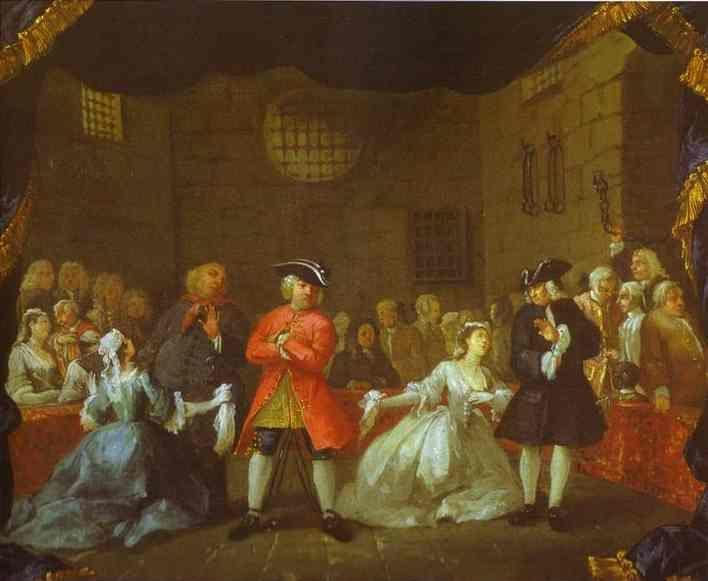 William Hogarth. A Scene from the Beggar's Opera.