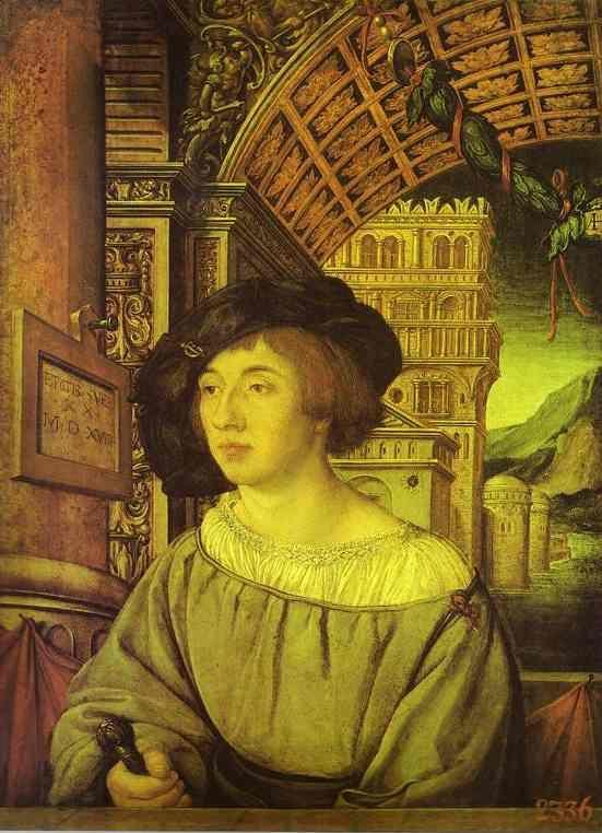 Ambrosius Holbein. Portrait of a Young Man.