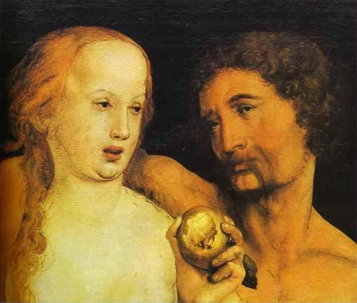 Hans Holbein. Adam and Eve.