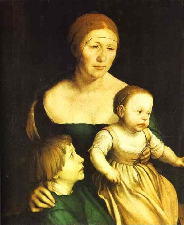 Hans Holbein. The Artist's Family.
