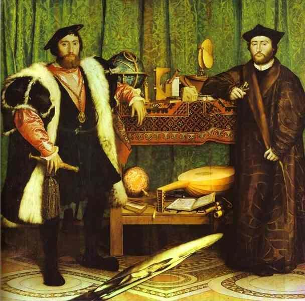 Hans Holbein. The Ambassadors.
