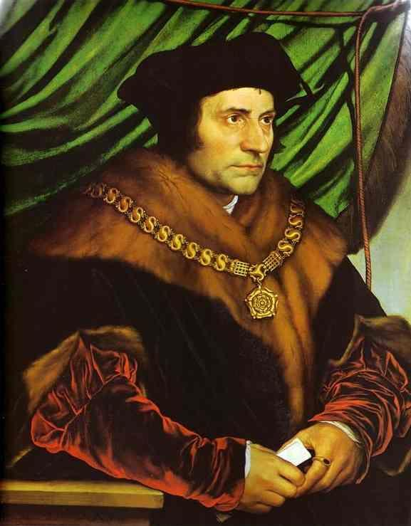 Hans Holbein. Portrait of Sir Thomas More.