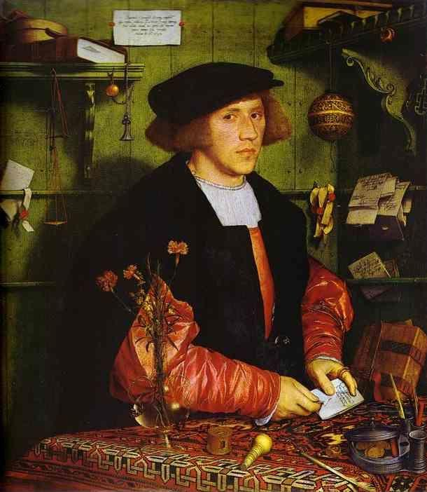 Hans Holbein. Portrait of Georg Gisze of Danzig.