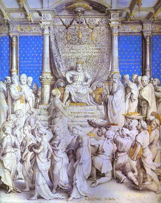 Hans Holbein. Solomon Receiving the Homage of the Queen of Sheba.