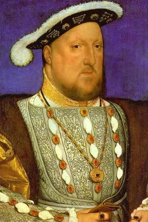 Hans Holbein. Portrait of Henry VIII.