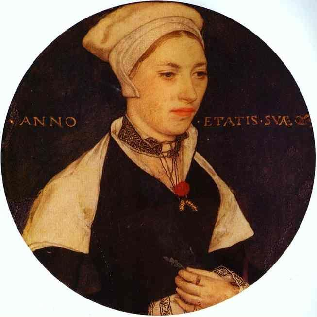 Hans Holbein. Portrait of Mrs Pemberton.