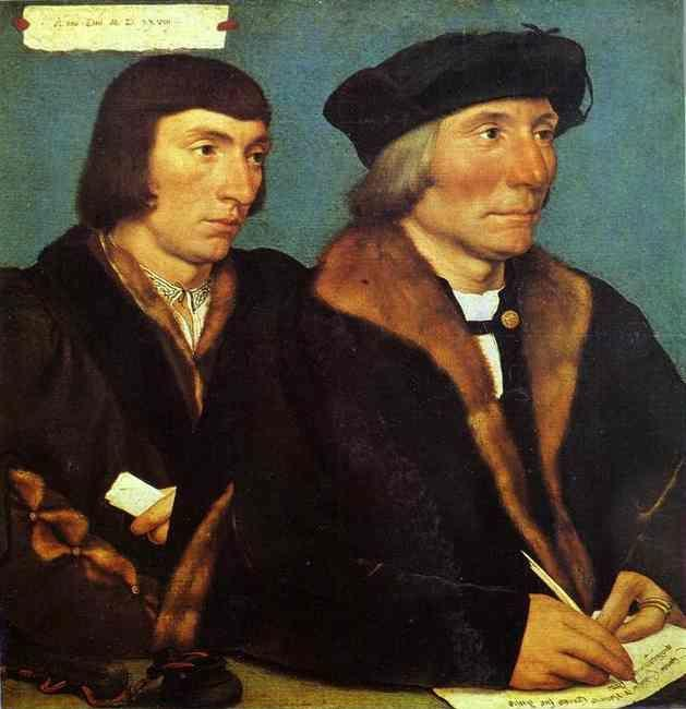 Hans Holbein. Double Portrat of Sir Thomas Godsalve and His Son John.