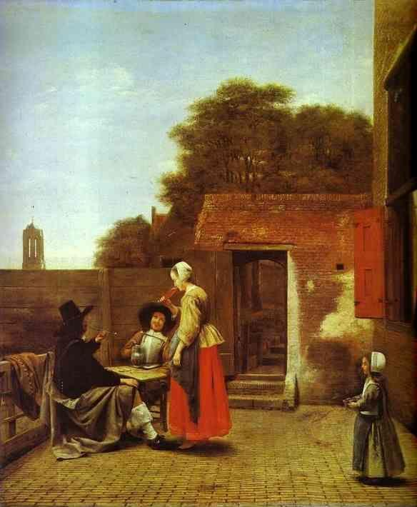 Pieter de Hooch. A Dutch Courtyard.