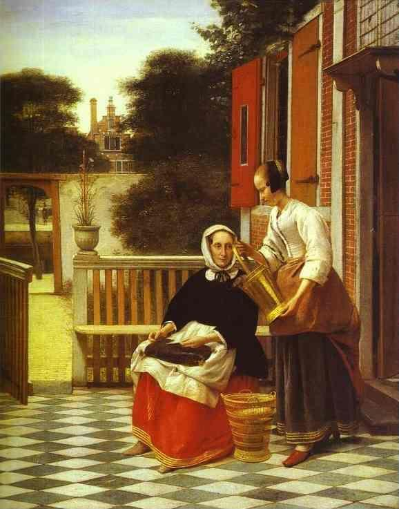 Pieter de Hooch. A Mistress and Her Maid.