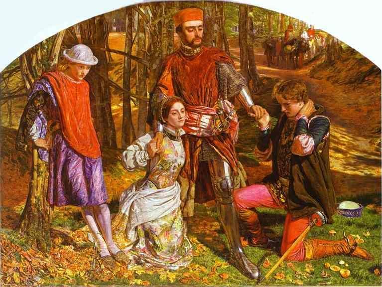 William Holman Hunt. Valentine Rescuing Sylvia from Proteus.