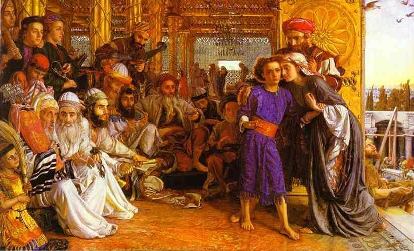 William Holman Hunt. The Finding of the Savior in the Temple.