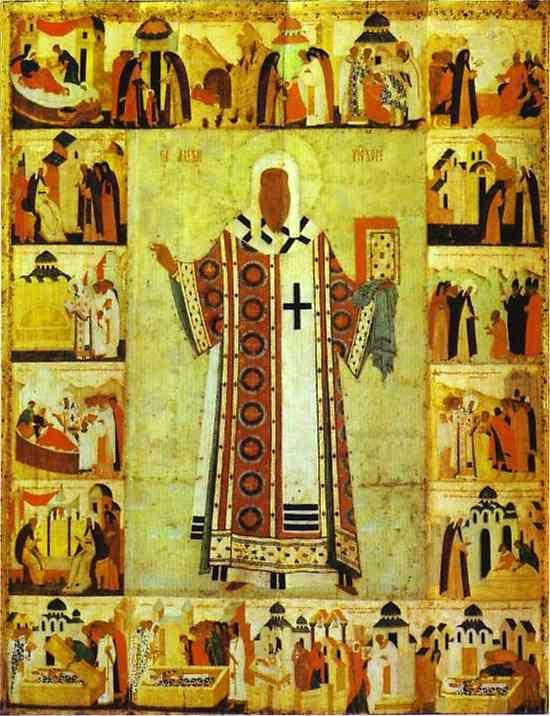 Dionisii (Dionysius). St. Alexius, Metropolitan of Moscow, with Scenes from His Life.
