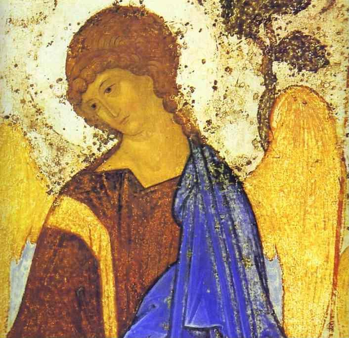 Andrei Rublev. The Old Testament Trinity. Detail.