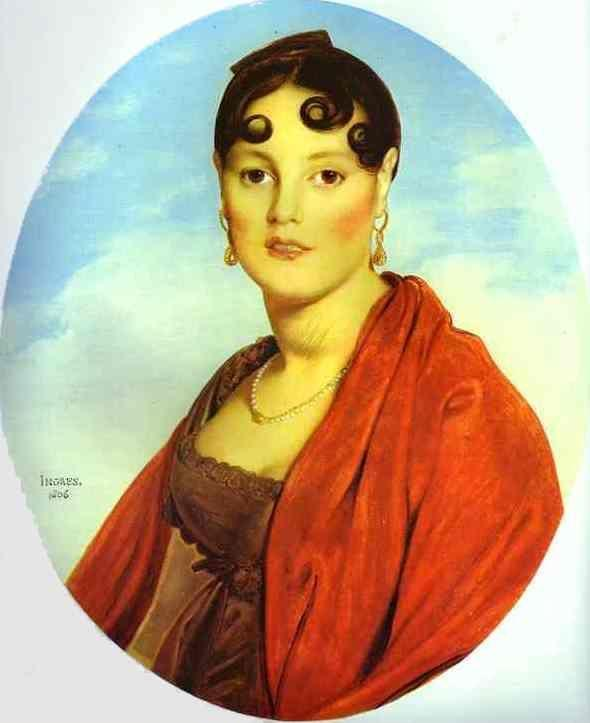 Jean-Auguste-Dominique Ingres. Portrait of Madame Aymon, La belle Zélie.