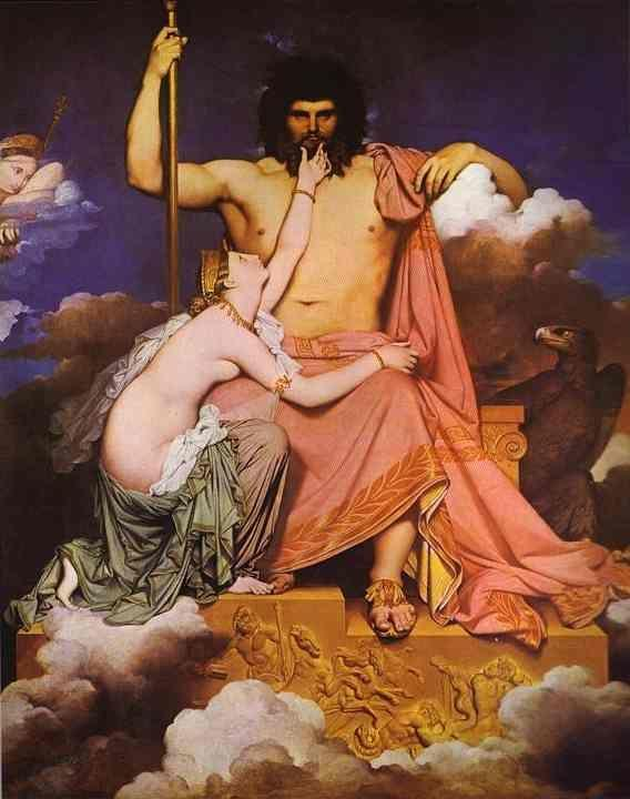 Jean-Auguste-Dominique Ingres. Jupiter and Thetis.