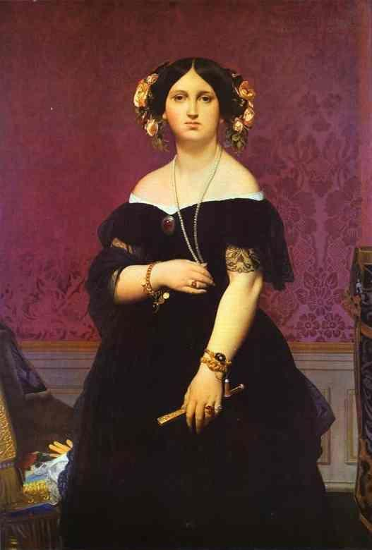 Jean-Auguste-Dominique Ingres. Portrait of Madame Moitessier Standing.