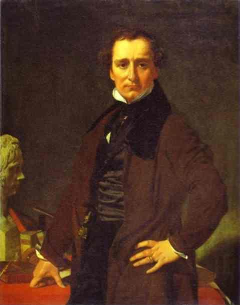 Jean-Auguste-Dominique Ingres. Portrait of the Sculptor Lorenzo Bartolini.
