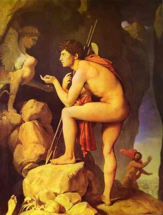 Jean-Auguste-Dominique Ingres. Oedipus and Sphinx.