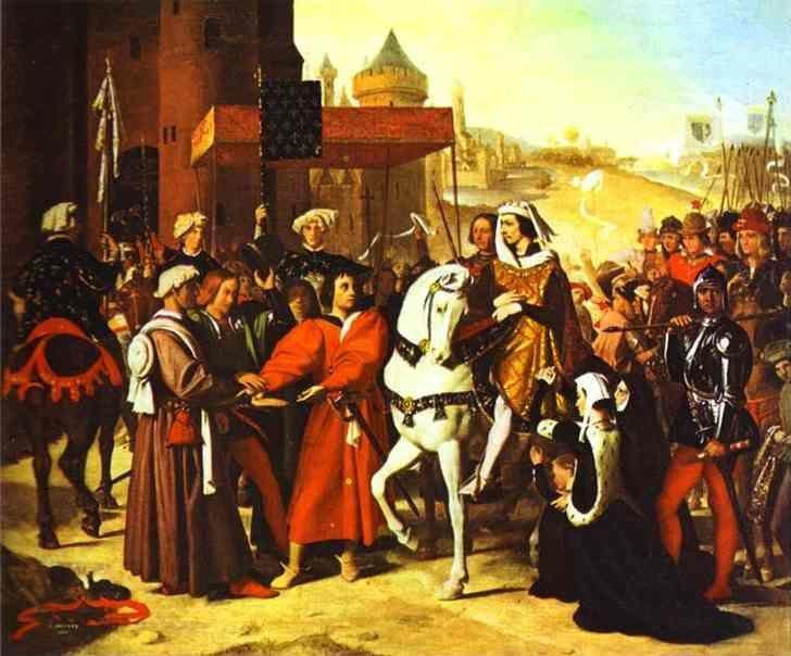Jean-Auguste-Dominique Ingres. Entrance of Dauphin, future Charles V, to Paris.