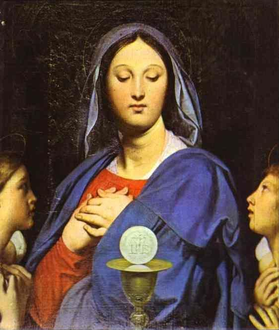 Jean-Auguste-Dominique Ingres. The Virgin of the Host.
