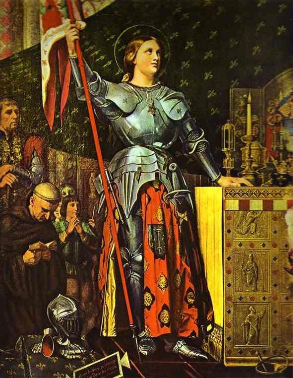 Jean-Auguste-Dominique Ingres. Joan of Arc at the Corronation of Charles VII in the Cathedral of Reims.