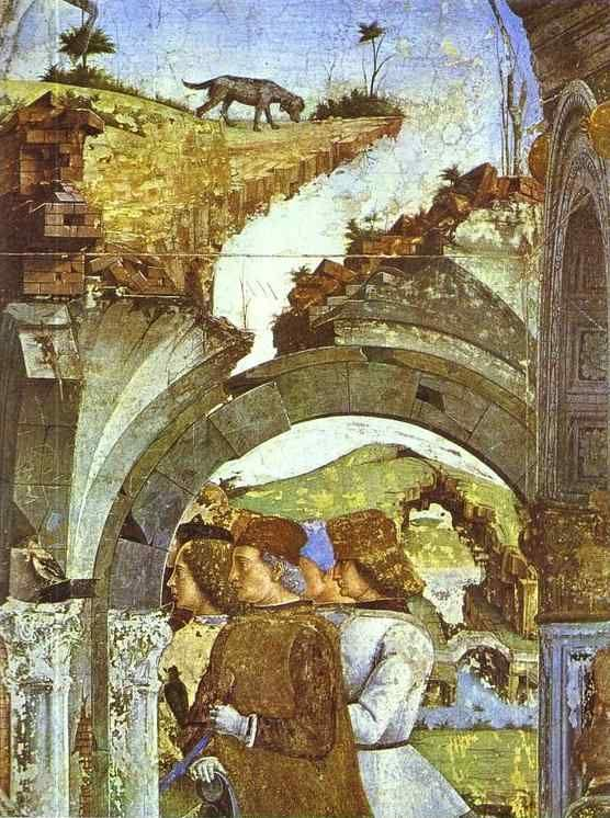 "Francesco del Cossa. Detail from ""March"" from the Cycle of the Months."