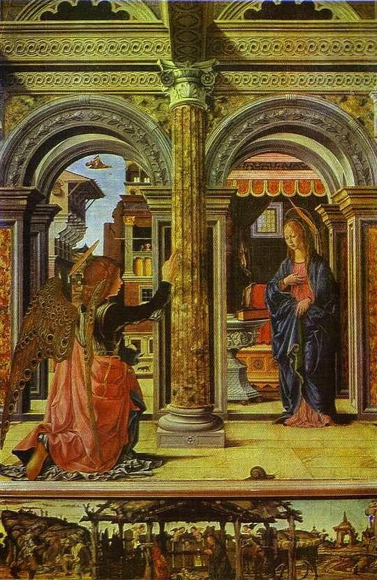 Francesco del Cossa. Annunciation.
