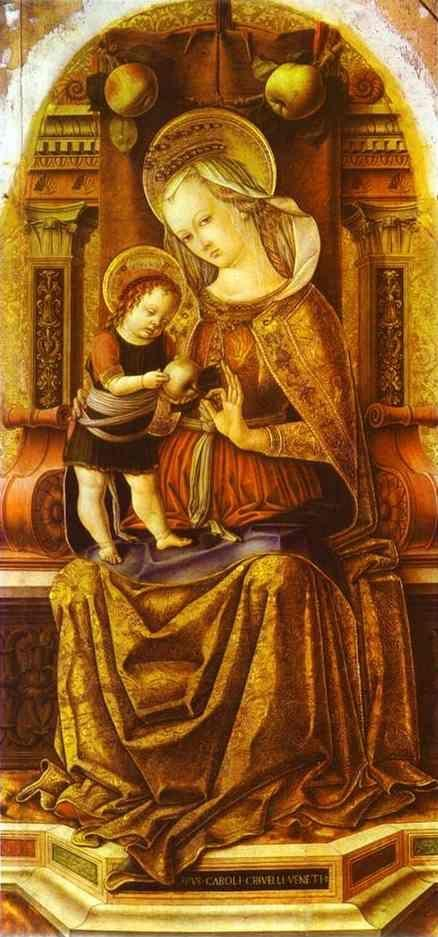 Carlo Crivelli. Madonna Enthroned.