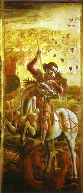 Cosme Tura. St. George and the Dragon.