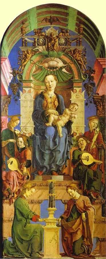 Cosme Tura. Madonna Enthroned.