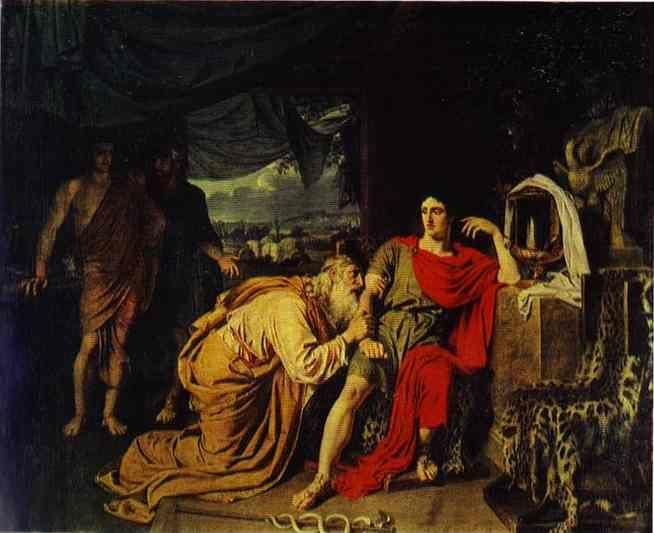 Alexander Ivanov. Priam Asking Achilles to Return Hector's Body.