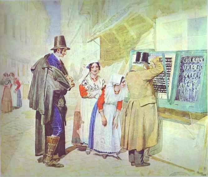 Alexander Ivanov. A Bridegroom Buying a Ring for His Fiancee.
