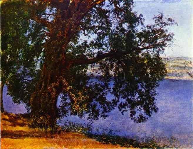 Alexander Ivanov. A Tree over Water in the Vicinity of Castel-Gandolfo.
