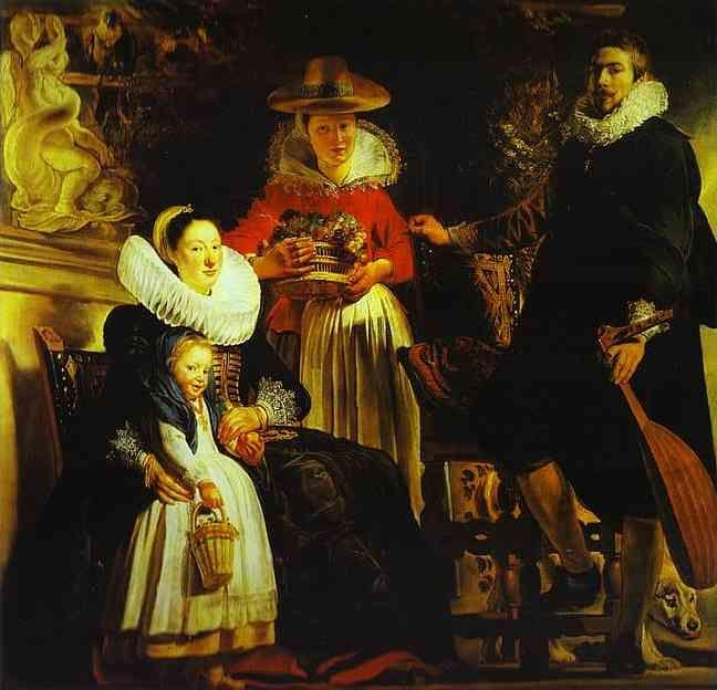 Jacob Jordaens. The Artist and His Family in a Garden.