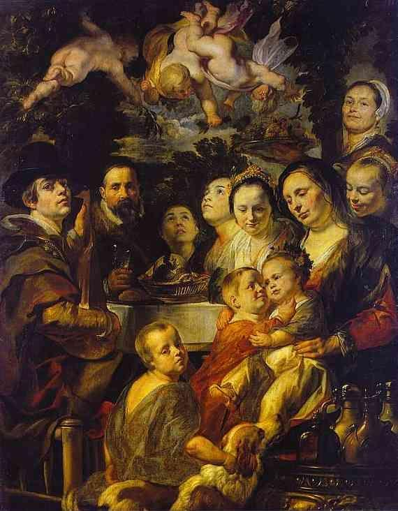 Jacob Jordaens. Self-Portrait with Parents, Brothers, and Sisters.