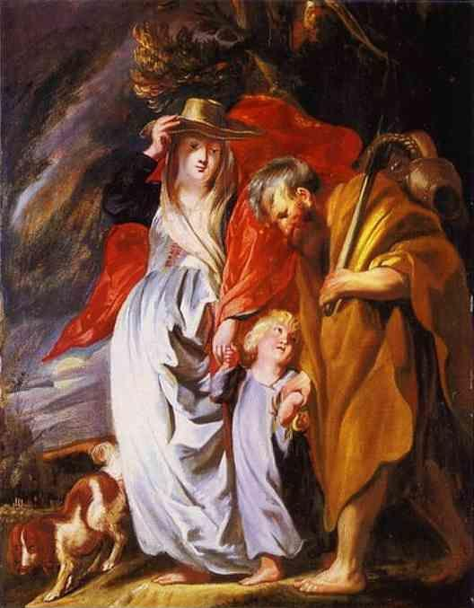 Jacob Jordaens. The Return of the Holy Family from Egypt.