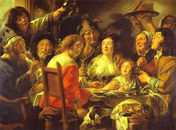Jacob Jordaens. The King Drinks; Celebration of the Feast of the Epiphany.