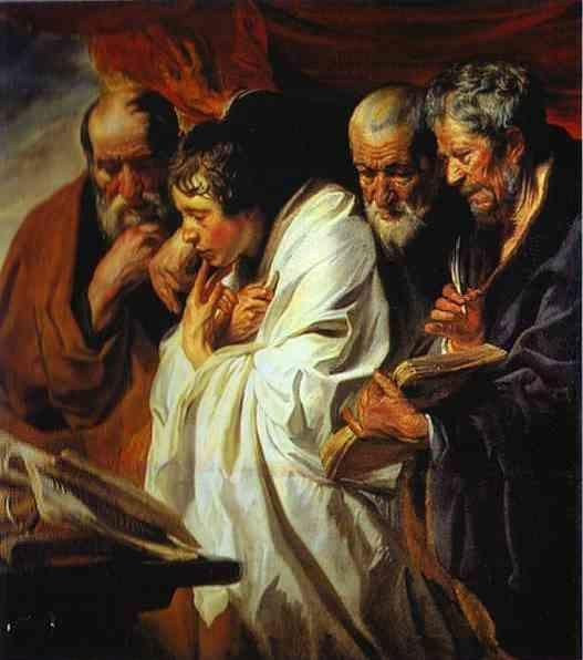 Jacob Jordaens. The Four Evangelists.
