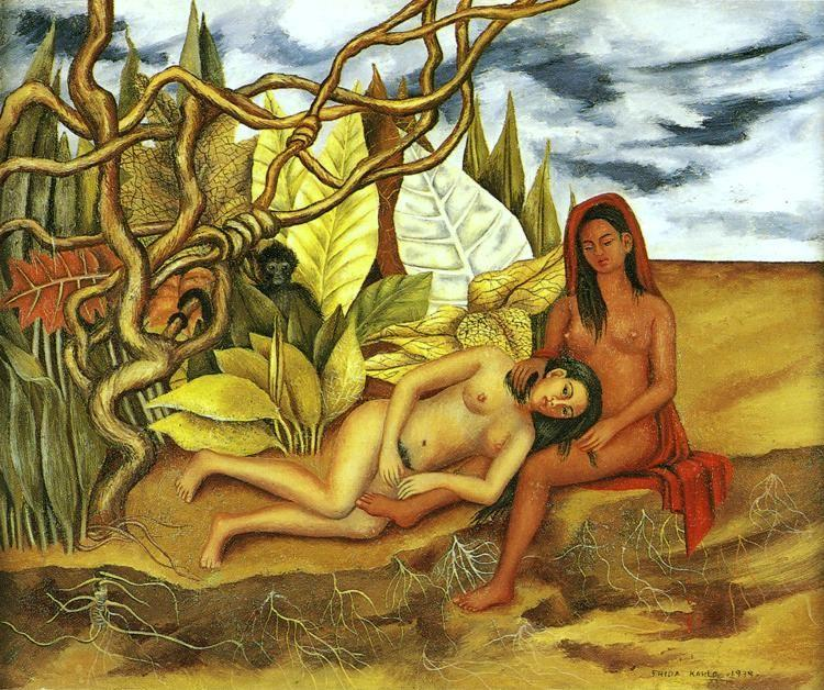 Frida Kahlo. Two Nudes in the Forest.