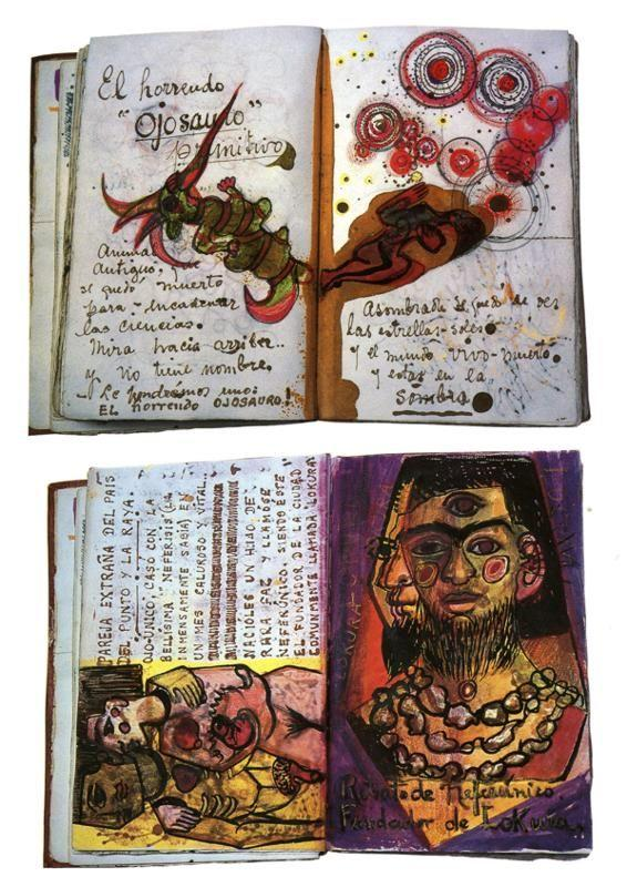 Frida Kahlo Diary Pages Quot El Horrendo Ojosauro Quot And