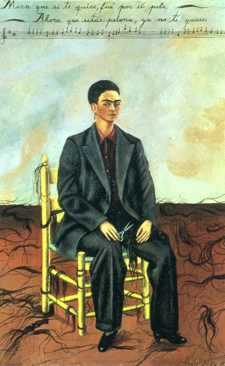 Frida Kahlo. Self-Portrait with Cropped Hair.