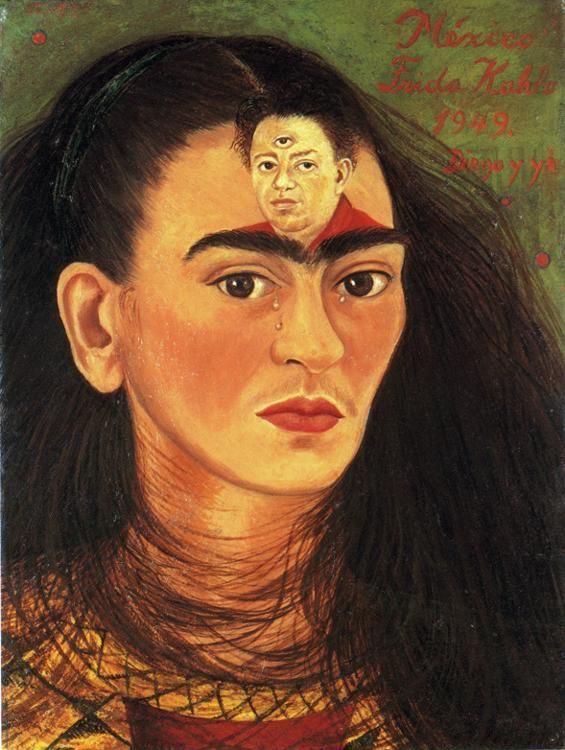 Frida Kahlo. Diego and I.