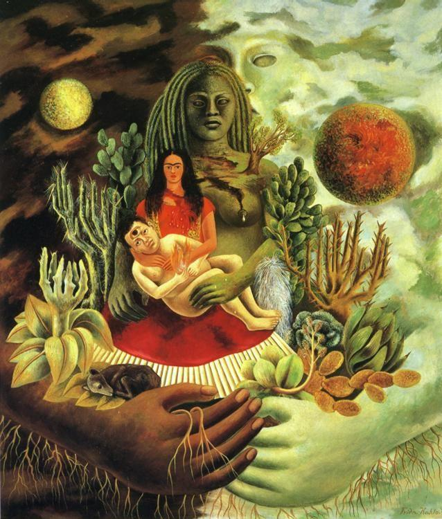 Frida Kahlo. The Love Embrace of the Universe, the Earth (Mexico), Diego, Me, and Senor Xolotl.