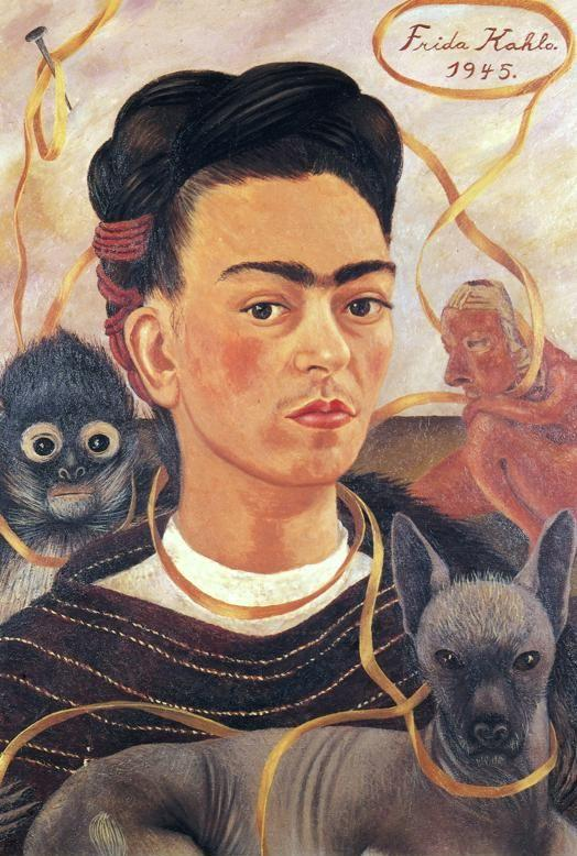 Frida Kahlo. Self-Portrait with Small Monkey.