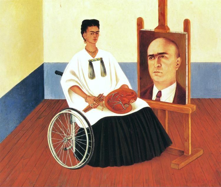 Frida Kahlo. Self-Portrait with the Portrait of Doctor Farill.