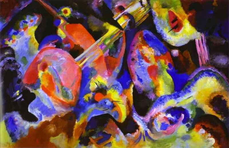 Wassily kandinsky flood improvisation for Imagenes de cuadros abstractos famosos
