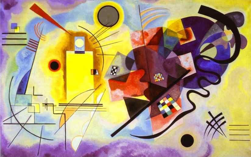 Wassily Kandinsky. Yellow-Red-Blue.