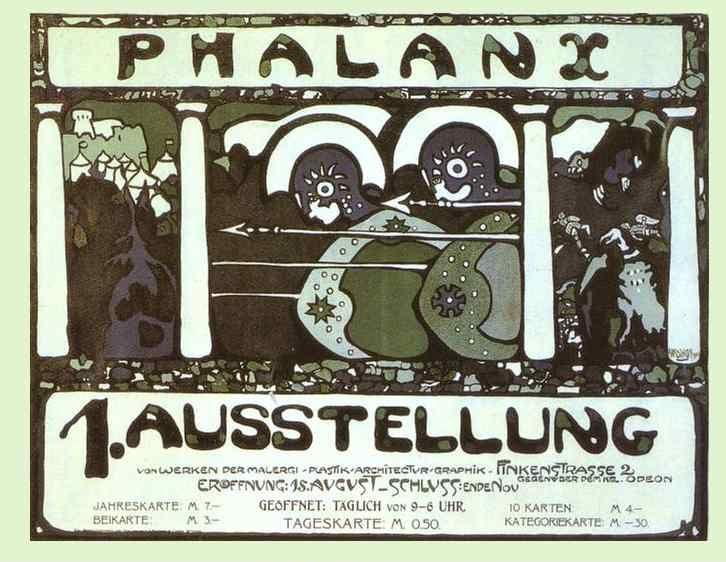Wassily Kandinsky. Poster for the First Phalanx Exhibition.