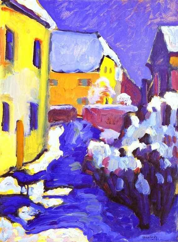 Wassily Kandinsky. Cemetery and Vicarage in Kochel.