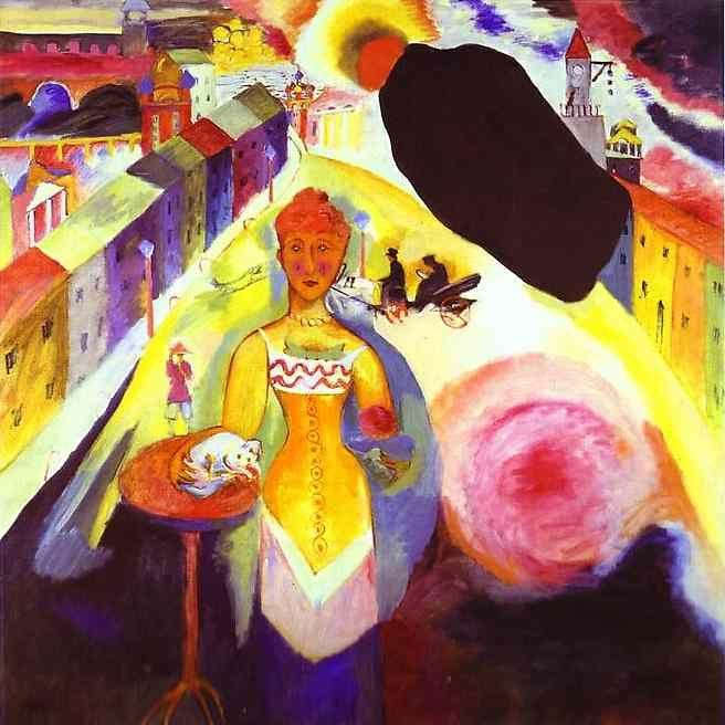 Wassily Kandinsky. Lady in Moscow.